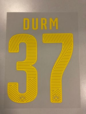 Original BVB Borussia Dortmund Trikot-Flock 17cm - DURM 37