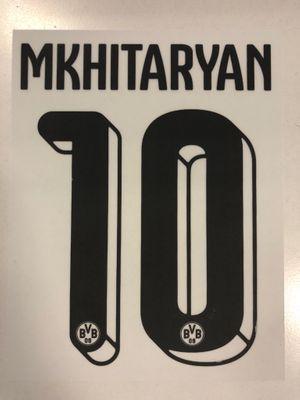 Original BVB Borussia Dortmund Trikot-Flock 16cm - MKHITARYAN 10