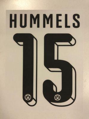 Original BVB Borussia Dortmund Trikot-Flock 16cm - HUMMELS 15