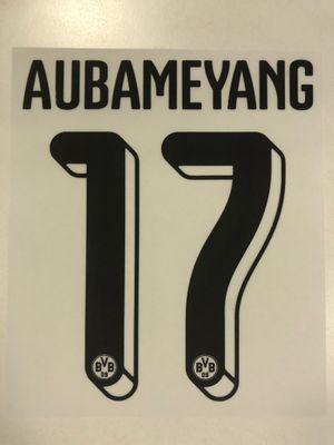 Original BVB Borussia Dortmund Trikot-Flock 16cm - AUBAMEYANG 17