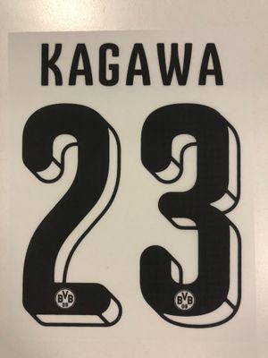 Original BVB Borussia Dortmund Trikot-Flock 16cm - KAGAWA 23
