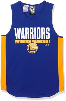 adidas NBA GOLDEN STATE WARRIORS Winter Hoops Tanktop Kinder blau