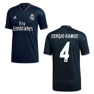 adidas REAL MADRID Trikot Away Kinder 2018 / 2019 - SERGIO RAMOS 4 – Bild 1