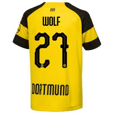 puma BVB BORUSSIA DORTMUND Trikot Home Kinder 2018 / 2019 - WOLF 27 – Bild 2