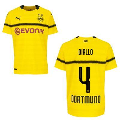 puma BVB BORUSSIA DORTMUND Trikot CUP Kinder 2018 / 2019 - DIALLO 4 – Bild 1