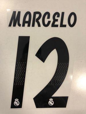 Original Real Madrid Trikot-Flock 17cm - MARCELO 12