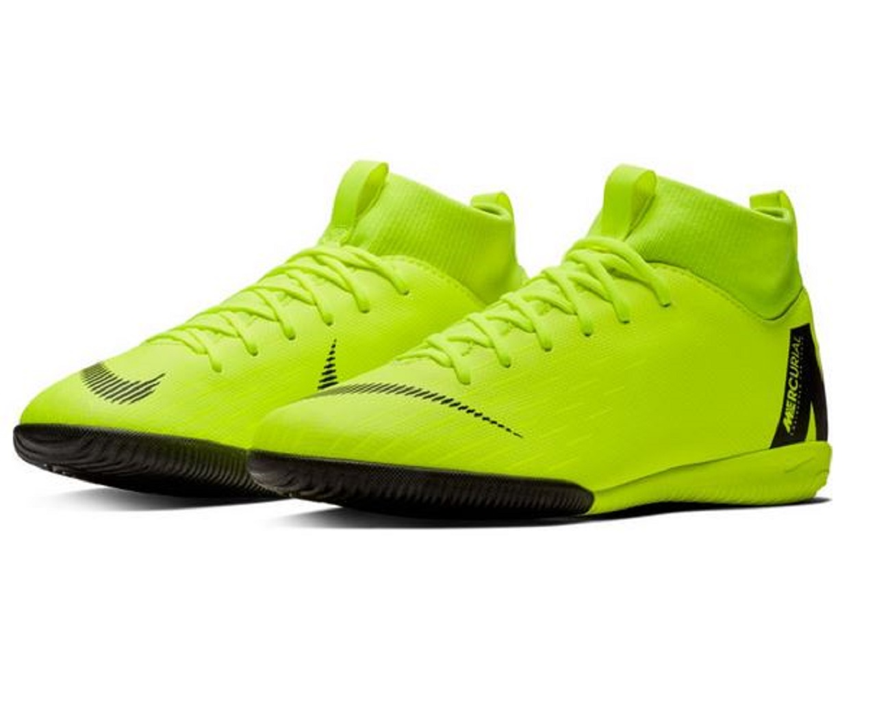 Nike Superfly 6 Academy Gs Ic Hallenschuh Kinder Neongelb Schwarz