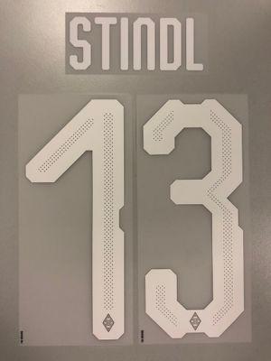 Original Borussia Mönchengladbach Trikot-Flock 20cm - STINDL 13