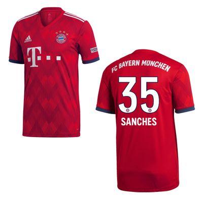 adidas FC BAYERN MÜNCHEN Trikot Home Kinder 2018 / 2019 - SANCHES 35 – Bild 1
