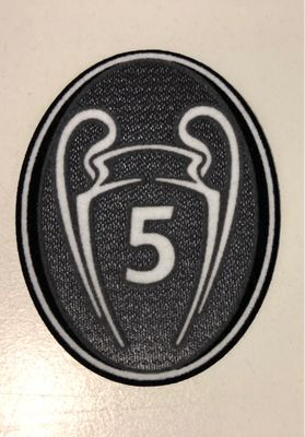 Original UEFA Champions League 5 Titel Patch FC Barcelona
