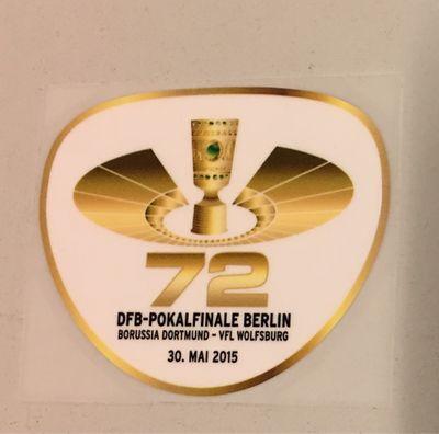 Original 72. DFB-Pokalfinal Patch 2015 Borussia Dortmund - VFL Wolfsburg
