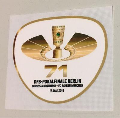 Original 71. DFB-Pokalfinal Patch 2014 Borussia Dortmund - FC Bayern München