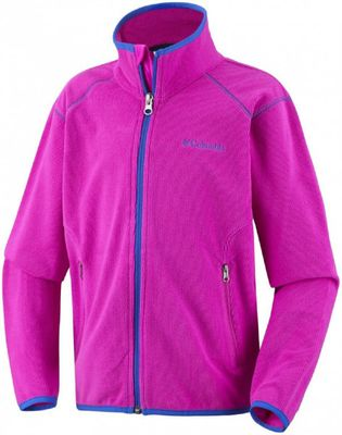 columbia SUMMIT RUSH Fleece Full Zip Jacke Kinder pink