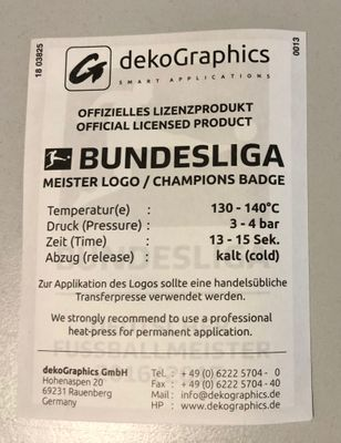 Original DFL Bundesliga Meisterlogo Kinder 2016/2017 FC Bayern München – Bild 2