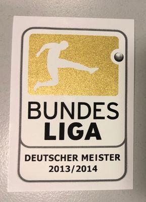 Original DFL Bundesliga Meisterlogo Kinder 2013/2014 FC Bayern München – Bild 1