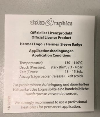 Original DFL Bundesliga Hermes Patch Kinder – Bild 2