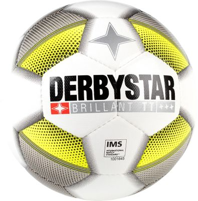 derbystar BRILLANT TT DB Trainingsball Gr. 5 grau-gelb