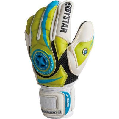 derbystar APS EVOLUTION STAR TW-Handschuh weiß-grün-blau