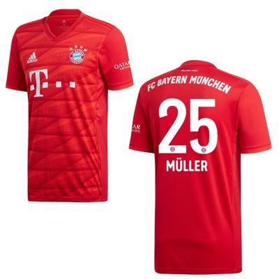 adidas FC BAYERN MÜNCHEN Trikot Home Kinder 2019 / 2020 - MÜLLER 25 – Bild 1