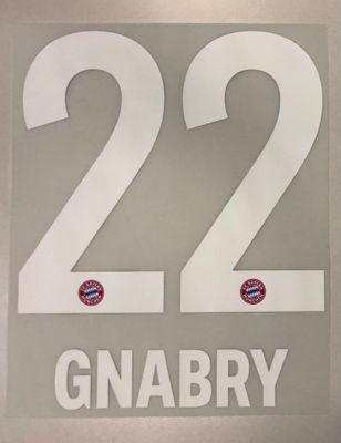 Original FC Bayern München Trikot-Flock 23cm - GNABRY 22