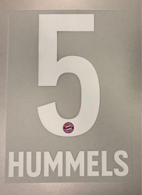 Original FC Bayern München Trikot-Flock 23cm - HUMMELS 5