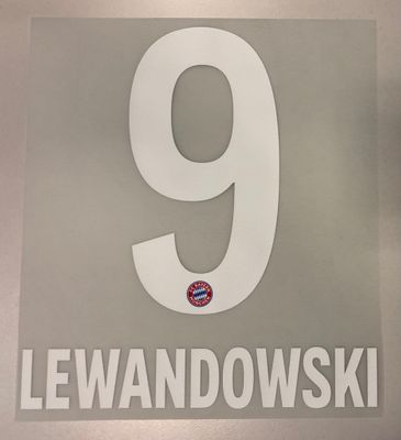 Original FC Bayern München Trikot-Flock 17cm - LEWANDOWSKI 9