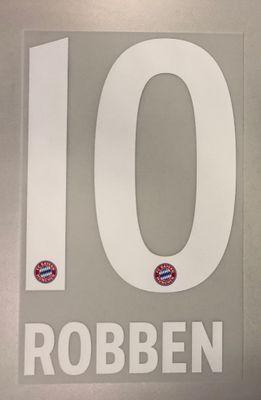 Original FC Bayern München Trikot-Flock 17cm - ROBBEN 10