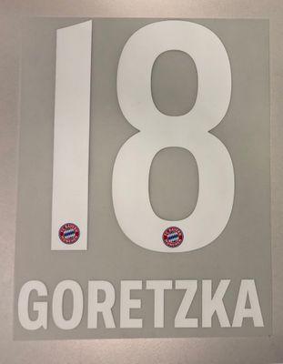 Original FC Bayern München Trikot-Flock 17cm - GORETZKA 18