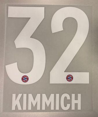 Original FC Bayern München Trikot-Flock 17cm - KIMMICH 32