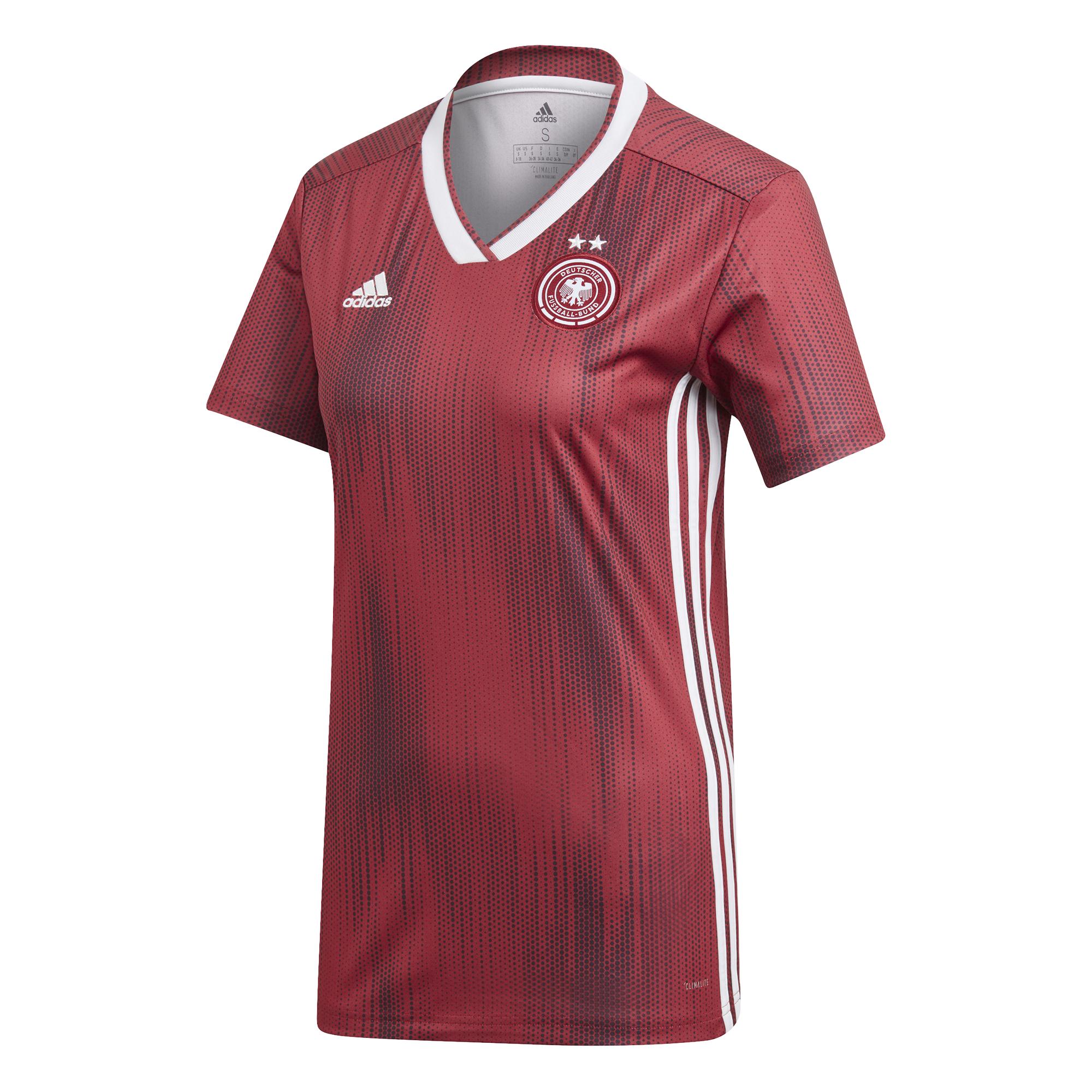 5+5 ADIDAS Damen DFB Away Jersey Deutschland Auswärtstrikot WM rot ORIGINAL