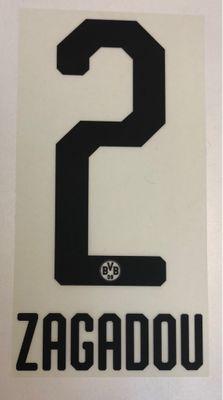 Original BVB Borussia Dortmund Trikot-Flock 20cm - ZAGADOU 2