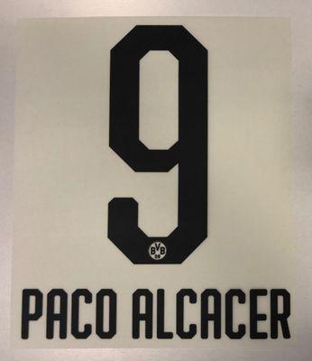 Original BVB Borussia Dortmund Trikot-Flock 20cm - PACO ALCACER 9