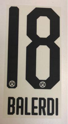 Original BVB Borussia Dortmund Trikot-Flock 20cm - BALERDI 18