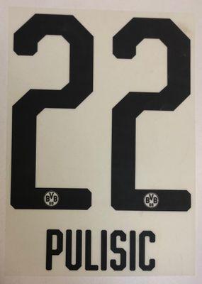 Original BVB Borussia Dortmund Trikot-Flock 20cm - PULISIC 22