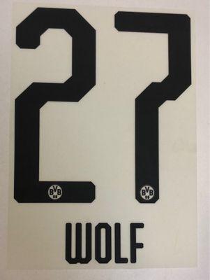 Original BVB Borussia Dortmund Trikot-Flock 20cm - WOLF 27