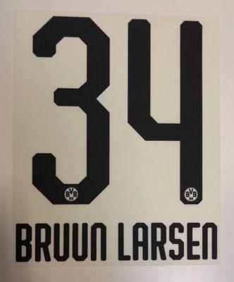 Original BVB Borussia Dortmund Trikot-Flock 20cm - BRUUN LARSEN 34