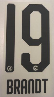 Original BVB Borussia Dortmund Trikot-Flock 20cm - BRANDT 19