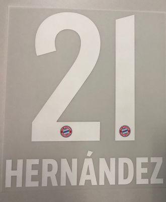 Original FC Bayern München Trikot-Flock 17cm - HERNÁNDEZ 21