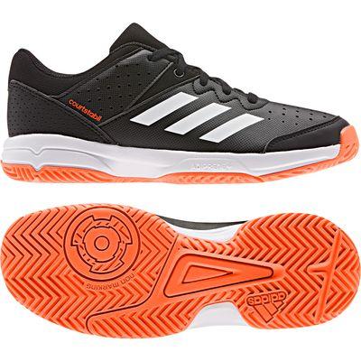 adidas COURT STABIL Handballschuh Kinder schwarz-weiß-rot – Bild 1