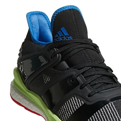 adidas STABIL X Handballschuh Herren schwarz-rot-gelb – Bild 4