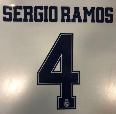 Original Real Madrid Trikot-Flock 16cm - SERGIO RAMOS 4