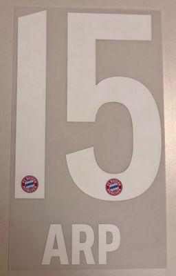 Original FC Bayern München Trikot-Flock 17cm - ARP 15