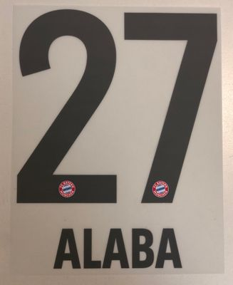 Original FC Bayern München Trikot-Flock 17cm - ALABA 27