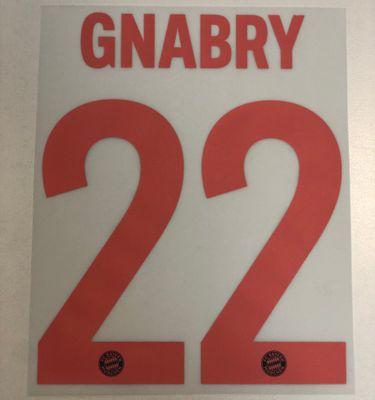 Original FC Bayern München Trikot-Flock 17cm - GNABRY 22