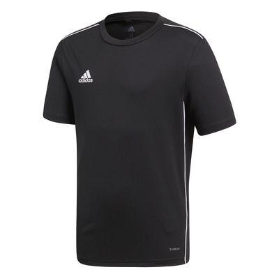 adidas CORE 18 Trainingsshirt Kinder schwarz-weiß – Bild 1