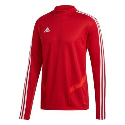 adidas TIRO 19 Trainingsshirt langarm Herren rot-weiß – Bild 1