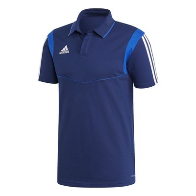 adidas TIRO 19 POLOSHIRT Herren blau-weiß – Bild 1