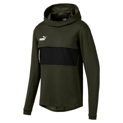 puma CASUAL HOODY - Pullover Herren grün-schwarz – Bild 1