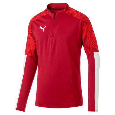 puma CUP TRAINING 1/4 ZIP TOP Herren rot
