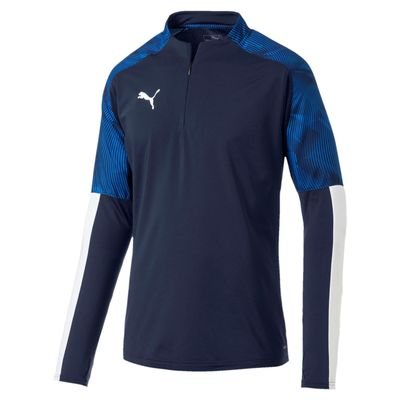 puma CUP TRAINING 1/4 ZIP TOP Herren blau